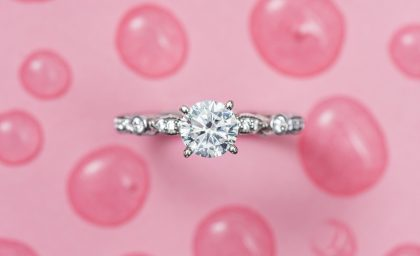 Round Cut Diamonds with Brilliant Sparkle