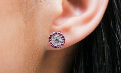 Diamond Cluster Earrings and Pendants
