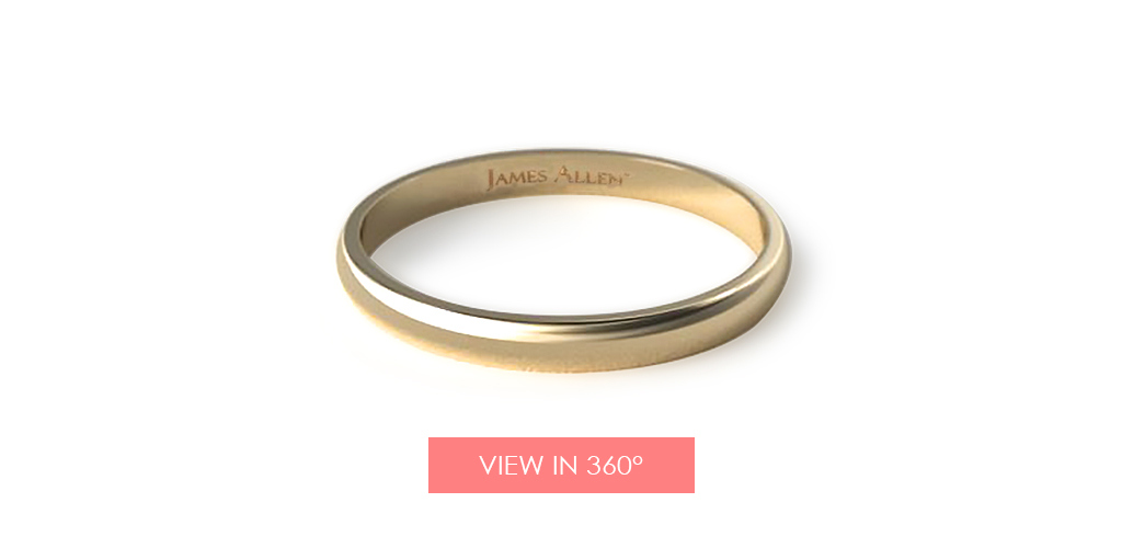 yellow gold wedding bands traditional slightly curved ring