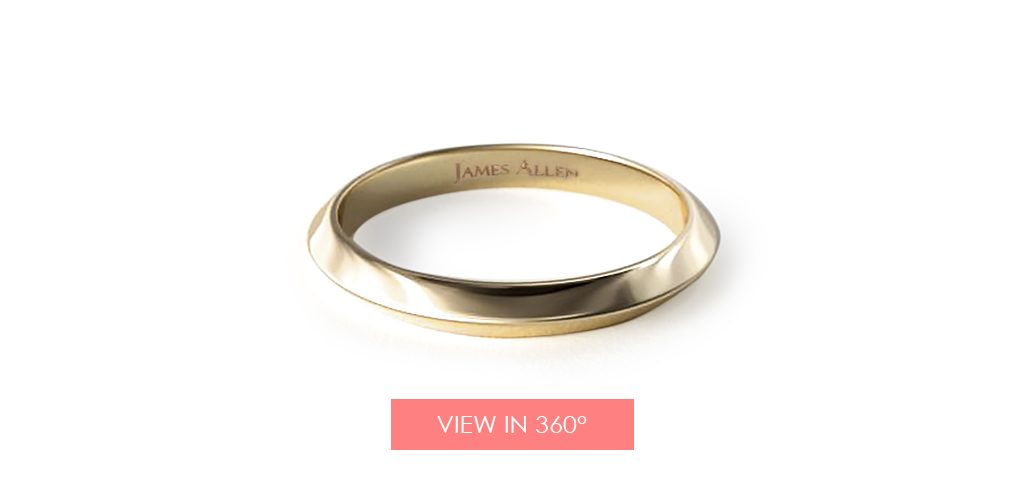 yellow gold wedding bands knife edge ring