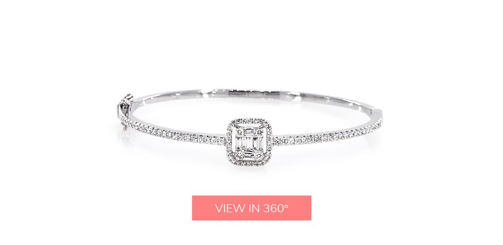baguette diamond jewelry bangle bracelet