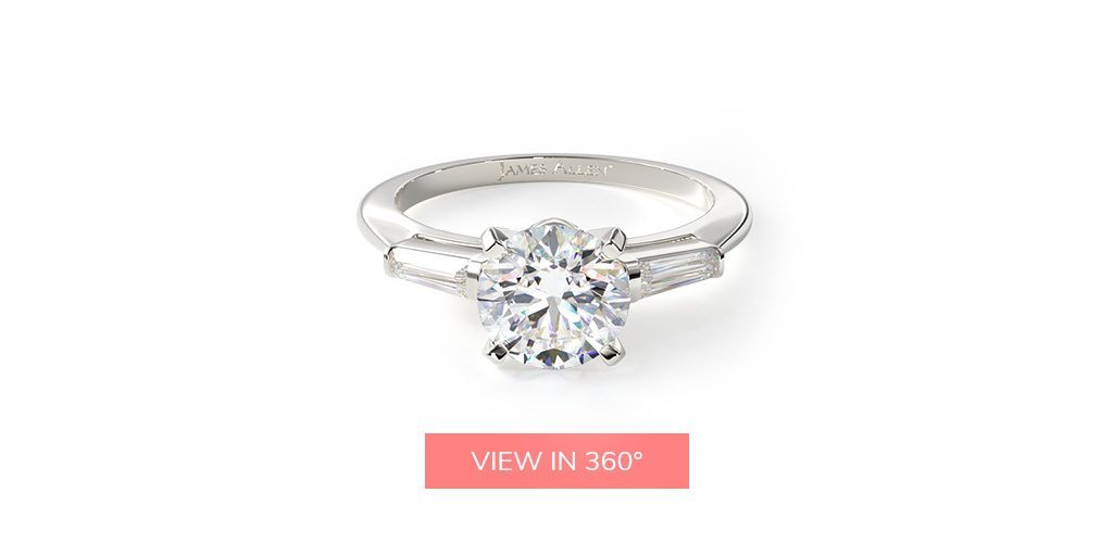 baguette side stone buying engagement ring 101