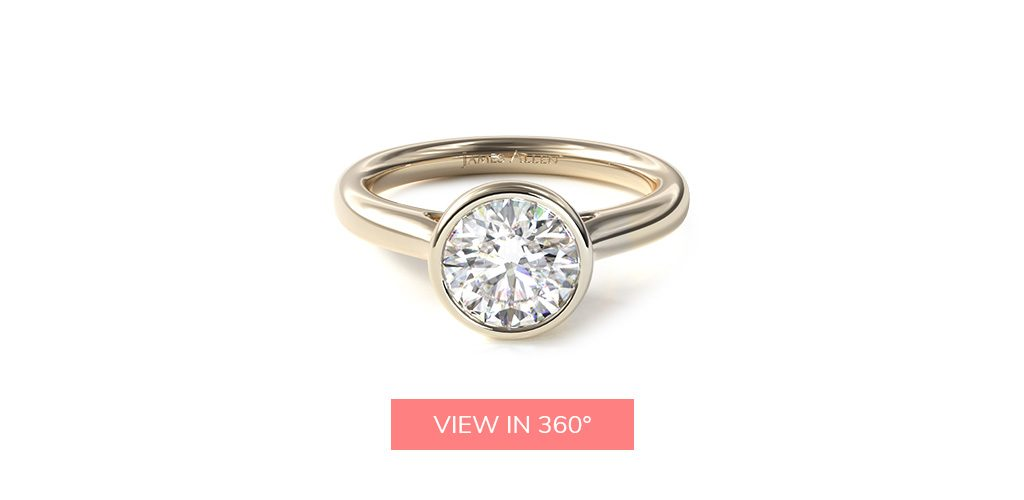 bezel modern yellow gold buying engagement ring 101