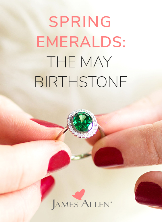 emerald may birthstone engagement ring pin pinterest