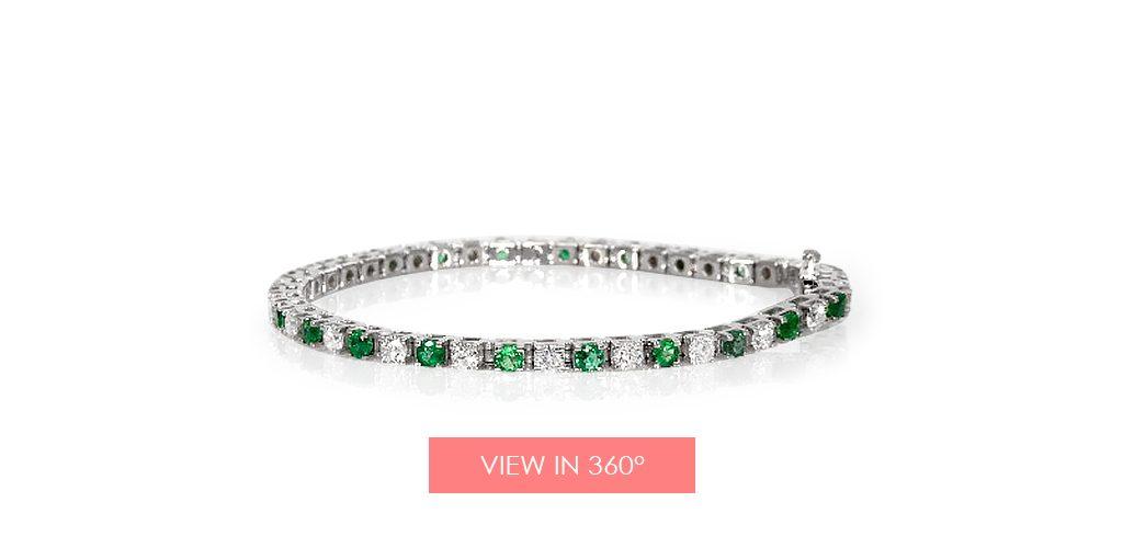 emerald may birthstone gift tennis bracelet