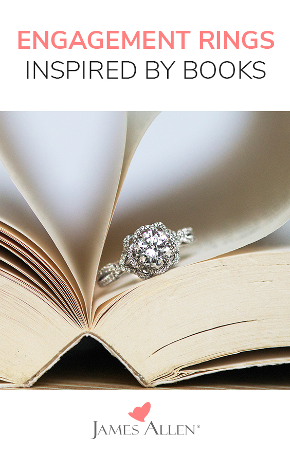 engagement rings inspired by most-loved books pin pinterest
