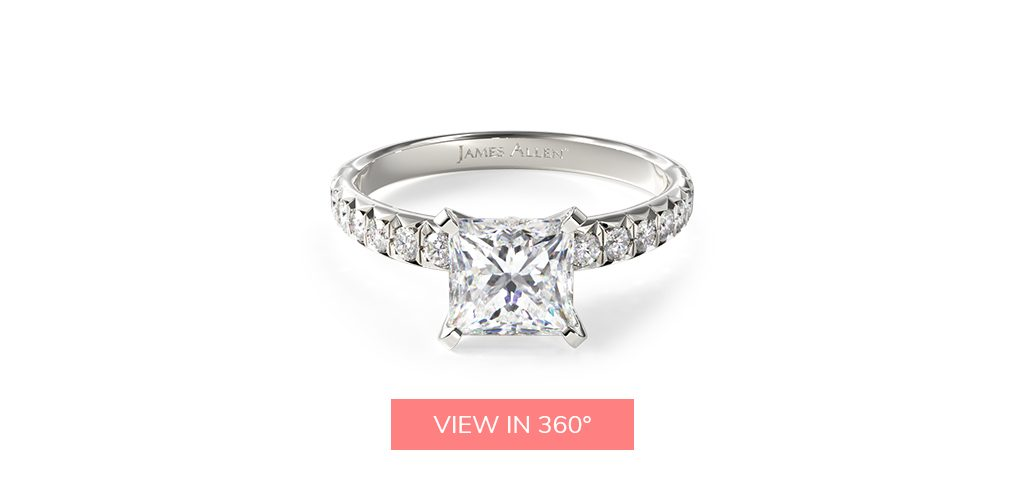 pave platinum engagement ring