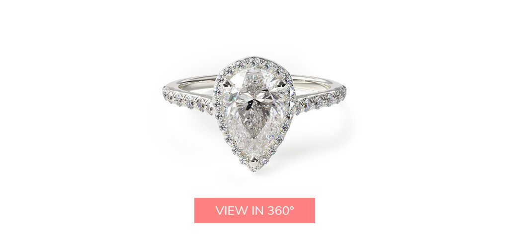pear diamond halo buying engagement ring 101