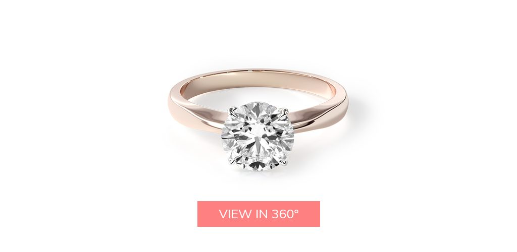 solitaire simple rose gold buying engagement ring 101
