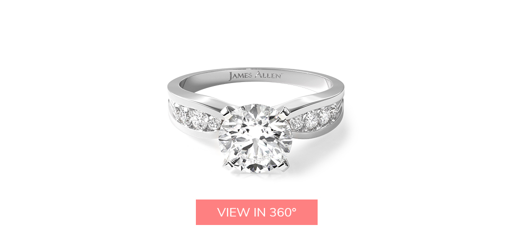 virtual engagement ring try-on bow tie channel set diamond engagement ring