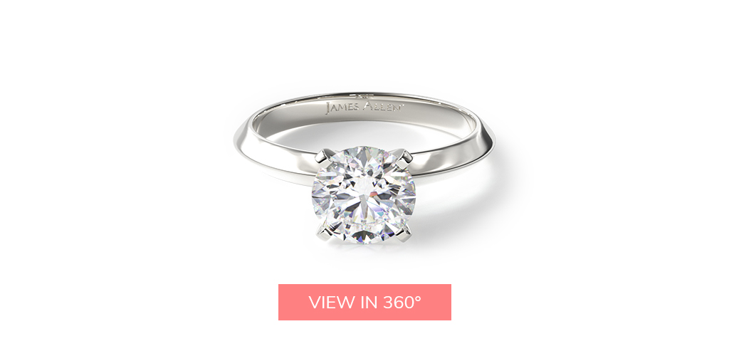 virtual engagement ring try-on knife edge solitaire engagement ring