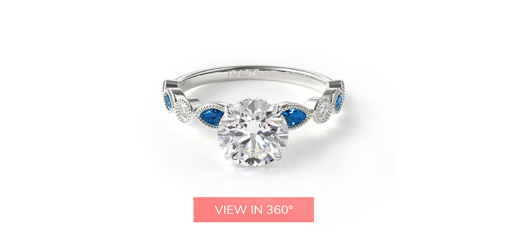 virtual-engagement-ring-try-on-vintage-round-diamond-marquise-sapphire-engagement-ring