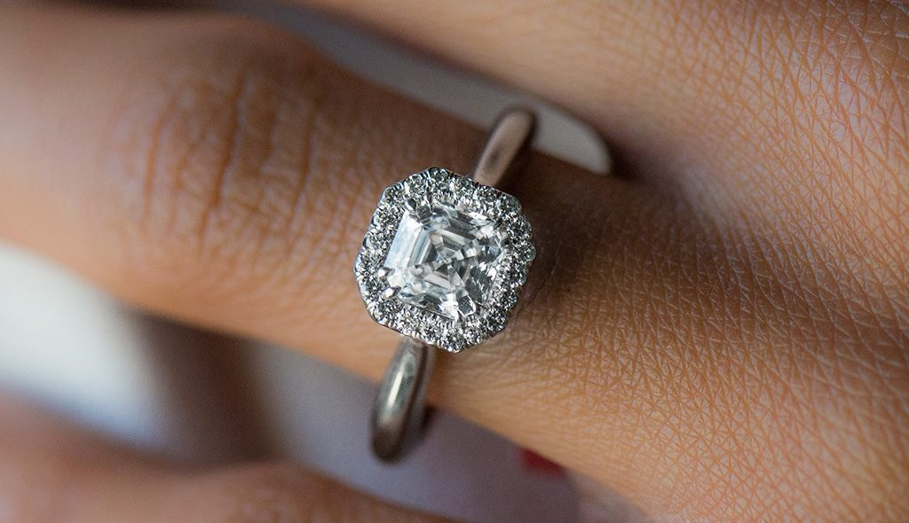 asscher cut diamonds danhov classico halo