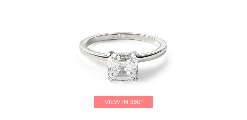 asscher cut diamonds simple classic solitaire engagement ring