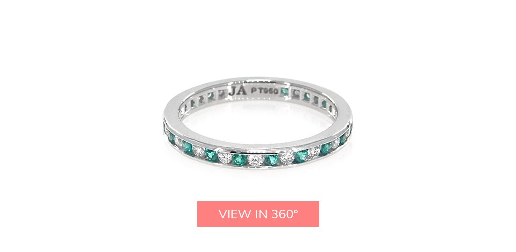 emerald gemstone eternity rings