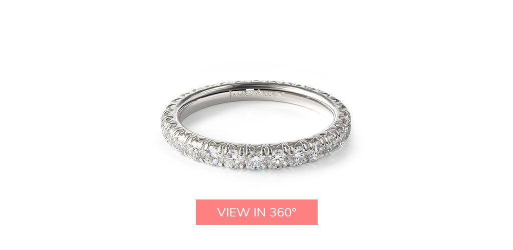 pave diamond eternity rings