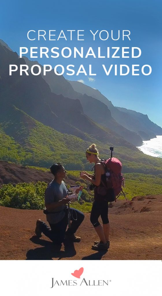 personalized proposal video pin pinterest