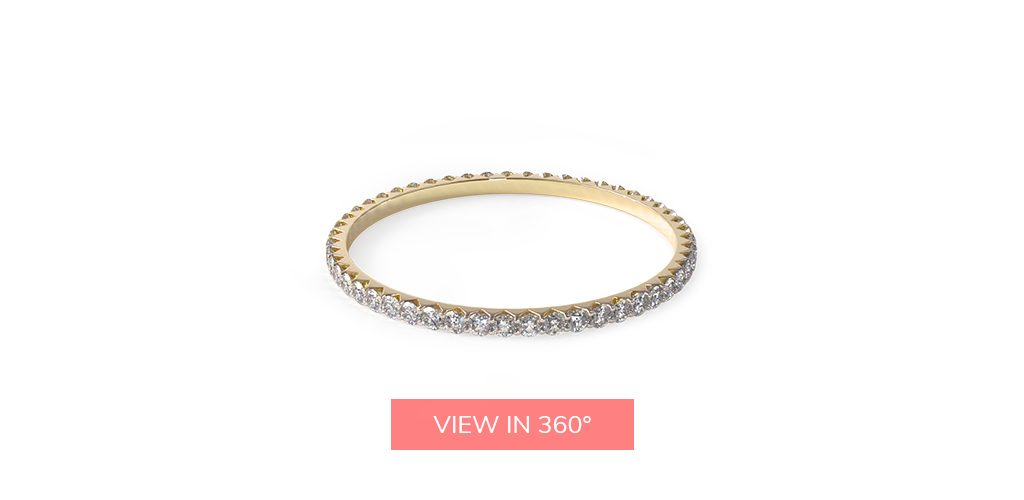 thin yellow gold delicate eternity rings