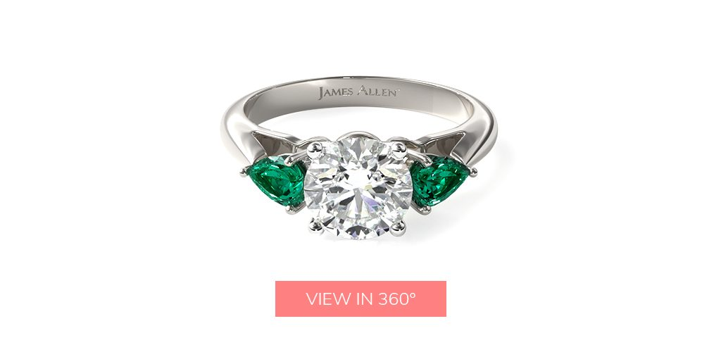 younger engagement rings emerald gemstone team josh