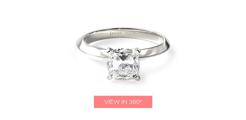 younger engagement rings simple classic solitaire cushion cut team charles