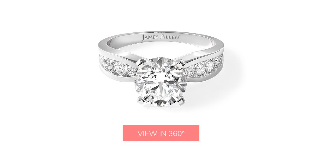 affordable engagement rings channel bow tie