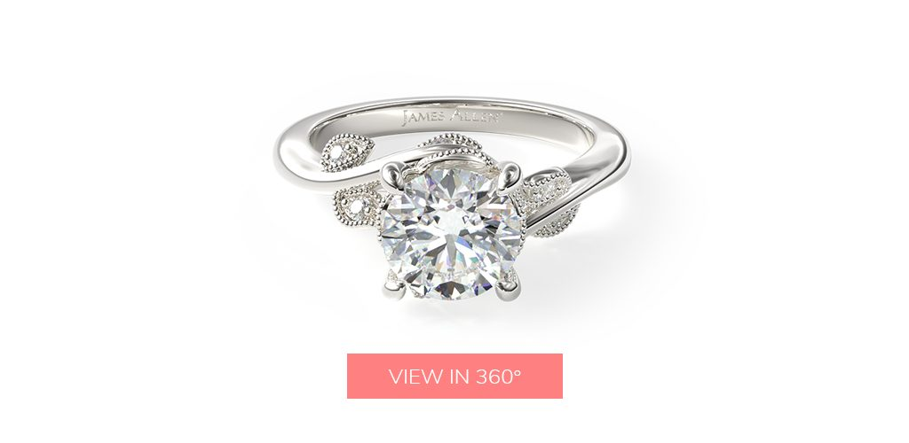affordable engagement rings entangled vines floral