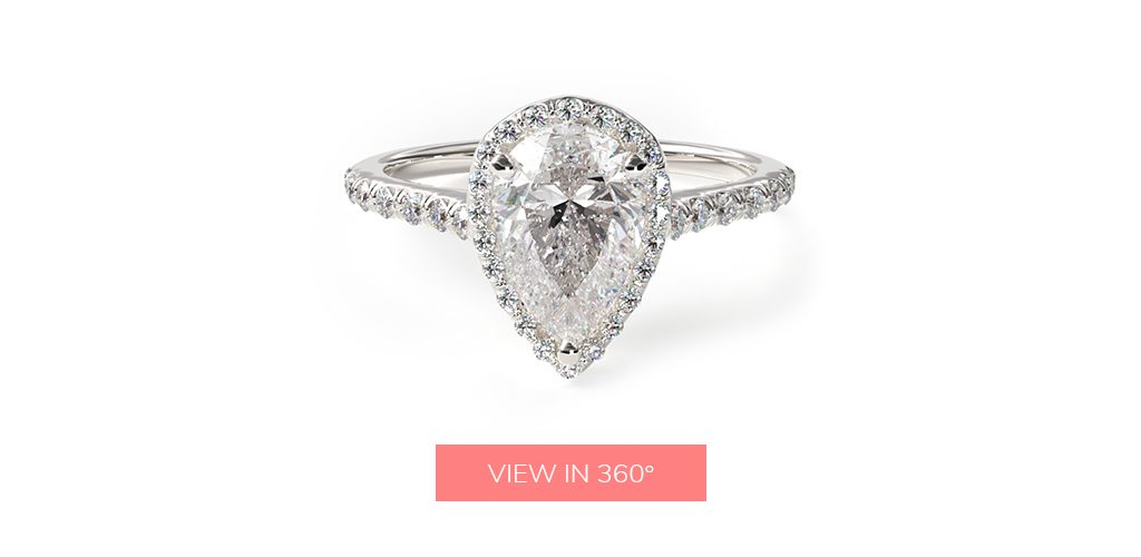 affordable engagement rings halo pear