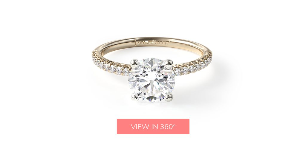 affordable engagement rings pave round diamond