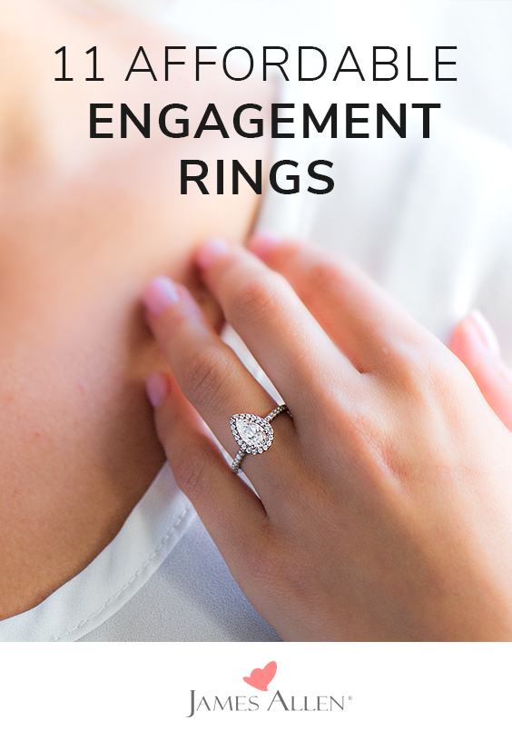 affordable engagement rings pin pinterest
