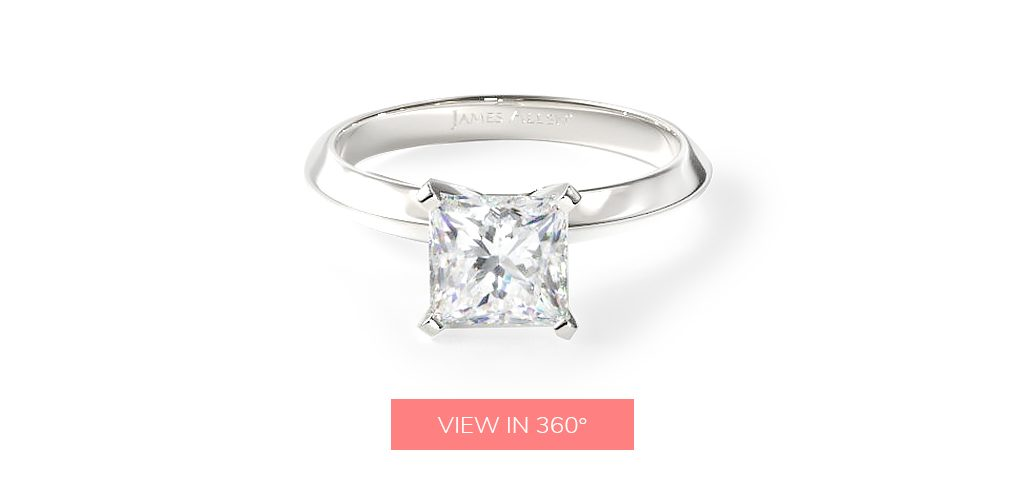 affordable engagement rings princess cut simple classic solitaire