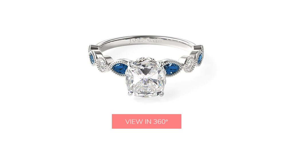 affordable engagement rings sapphire vintage gemstone