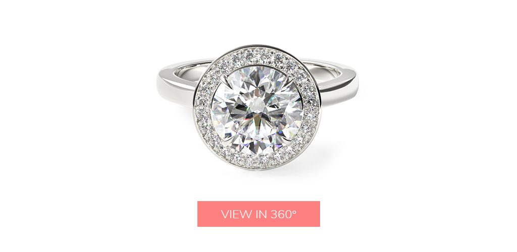 affordable engagement rings trellis halo