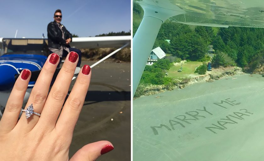 Beach Proposal Stories: Sandals & Sparkle