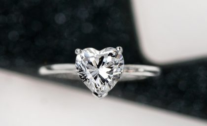 Heart Shaped Diamonds with Romantic Style