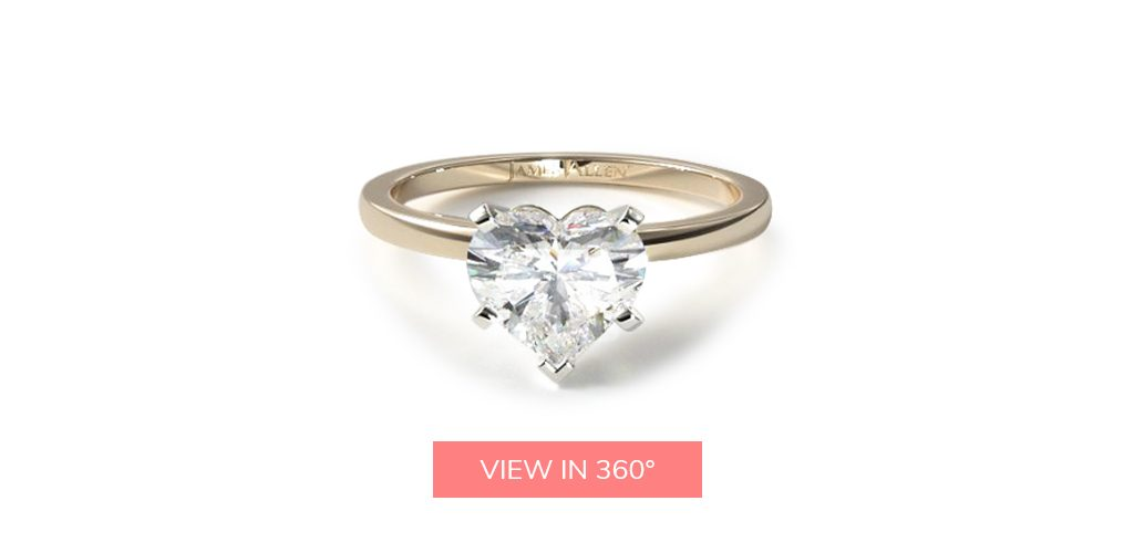 heart shaped diamonds solitaire engagement ring unique classic