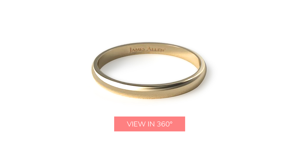 wedding rings for men yellow gold classic low dome ring