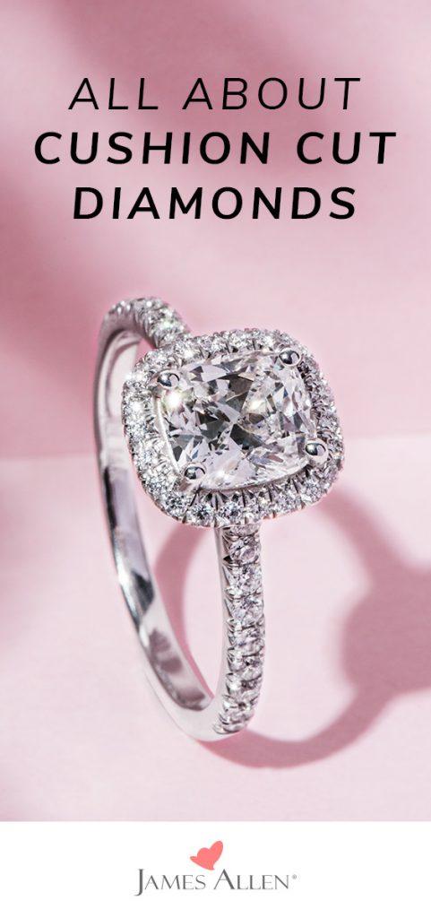 cushion cut diamonds pin pinterest
