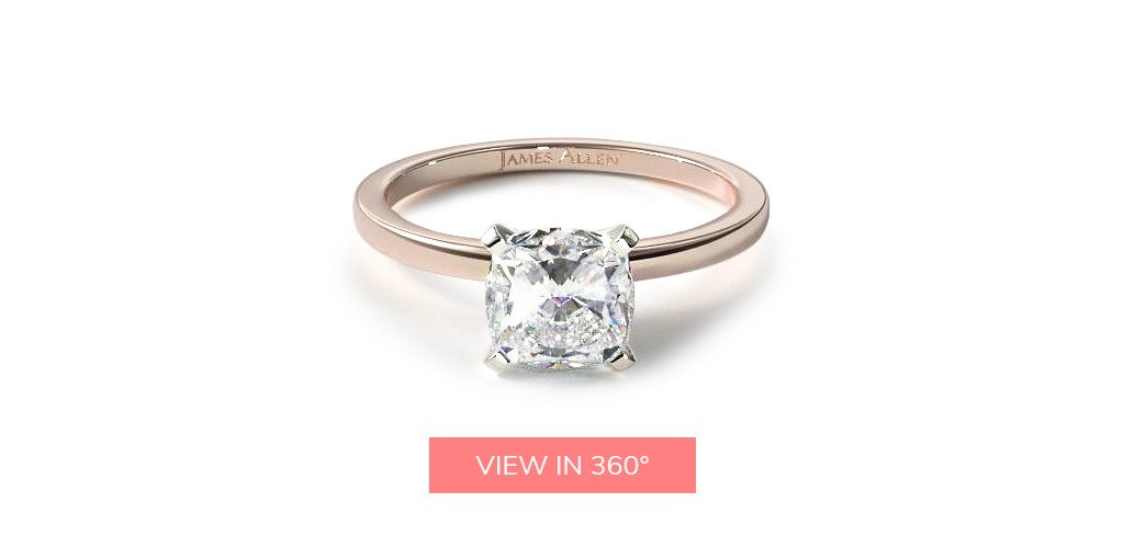 cushion cut diamonds solitaire engagement ring