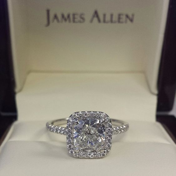 Trending James Allen halo engagement ring