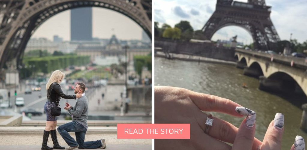 destination proposal eiffel tower paris photoshoot