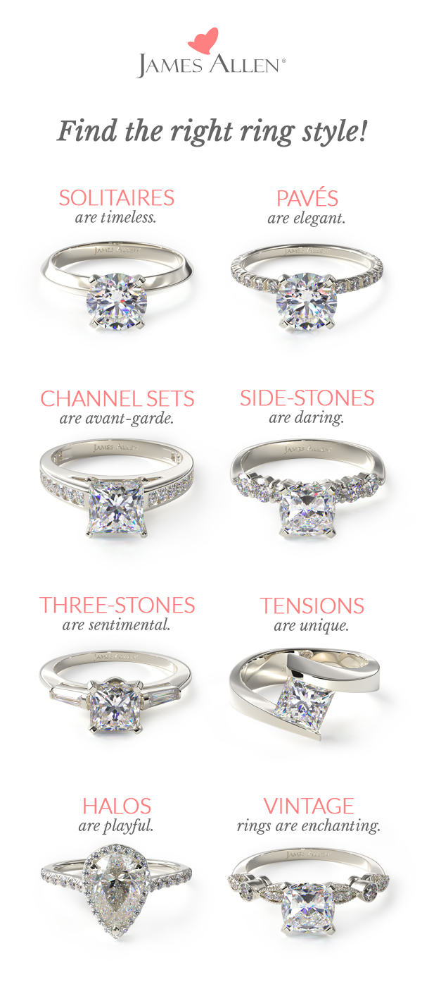 Different engagement rings styles