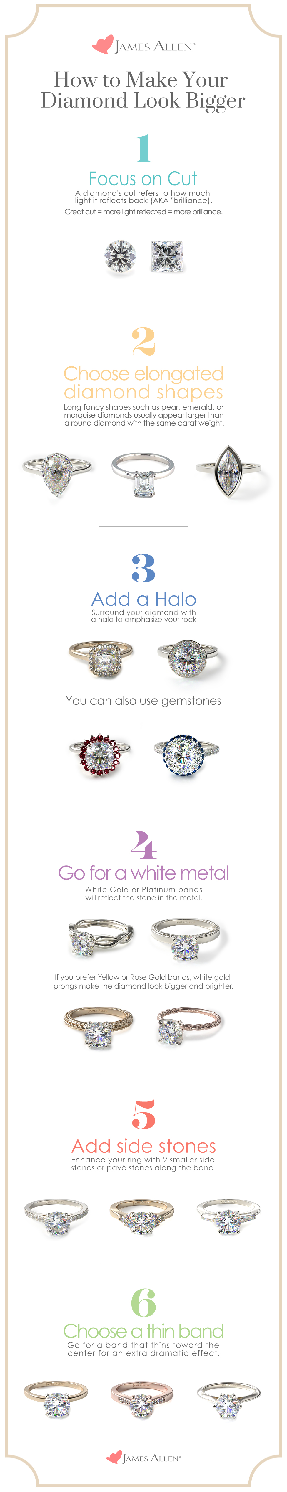 Pinterest pin on how to make engagement rings bigger