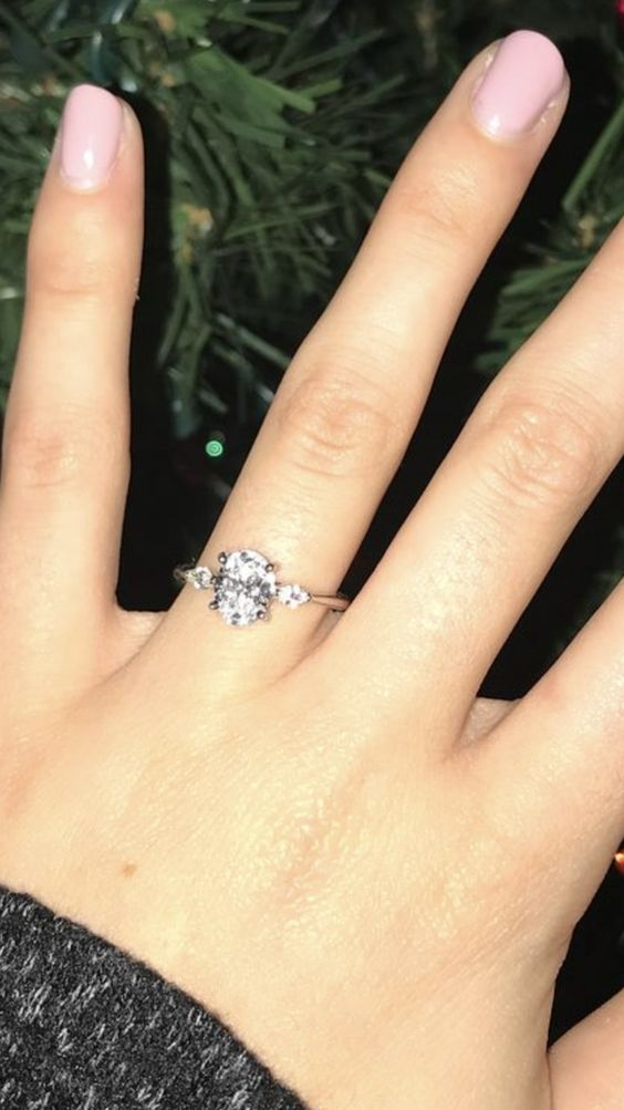 Meghan Markle three stone engagement ring lookalike