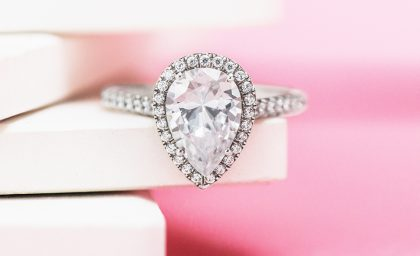 Pear Shaped Diamonds with Fruitful Flare