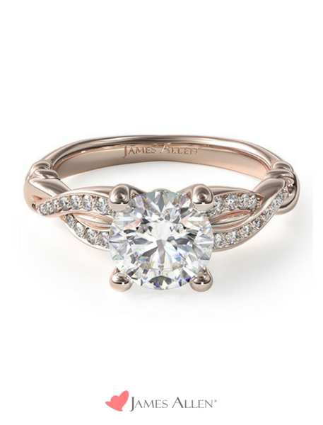 Vintage engagement ring in rose gold from JamesAllen.com