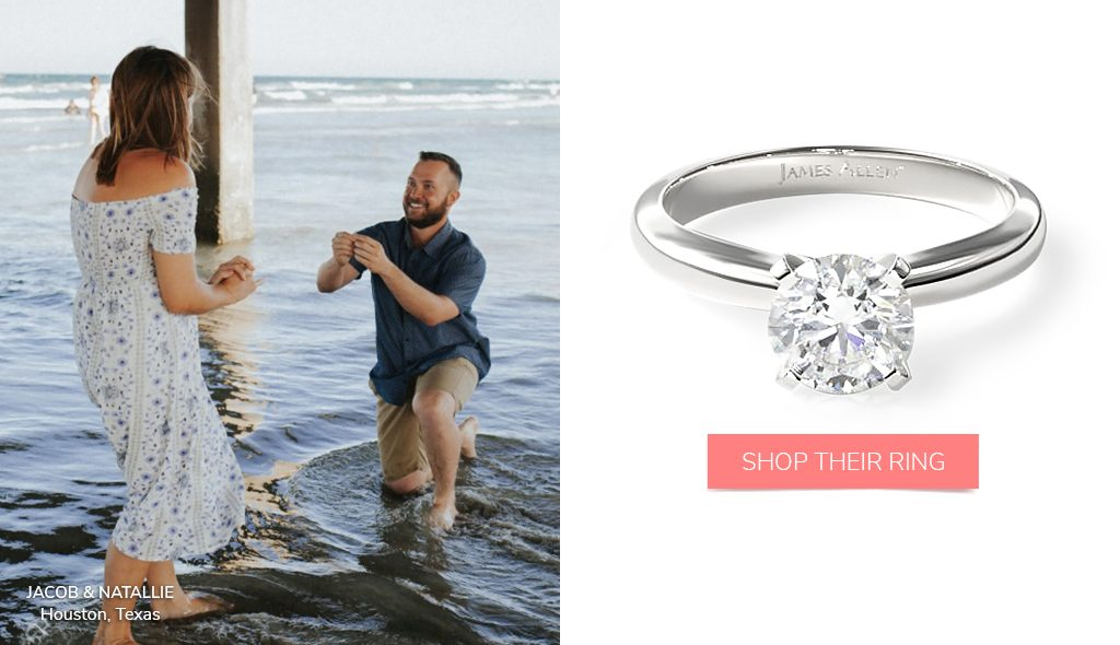 summer proposal tips comfort fit solitaire engagement ring