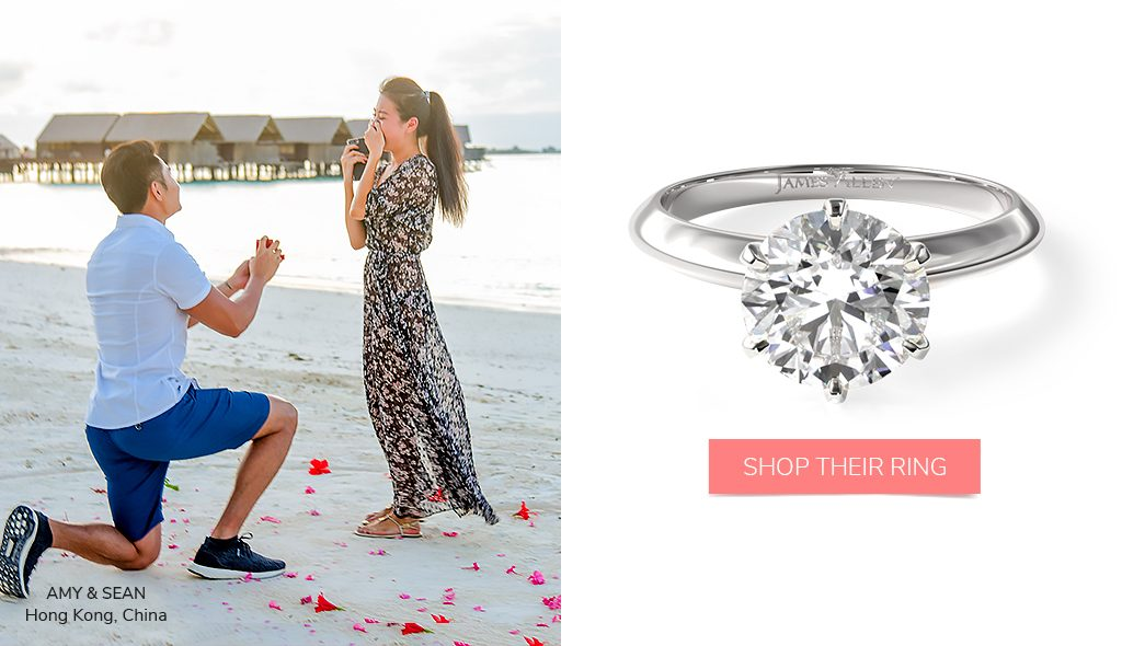 summer proposal tips six-prong solitaire engagement ring