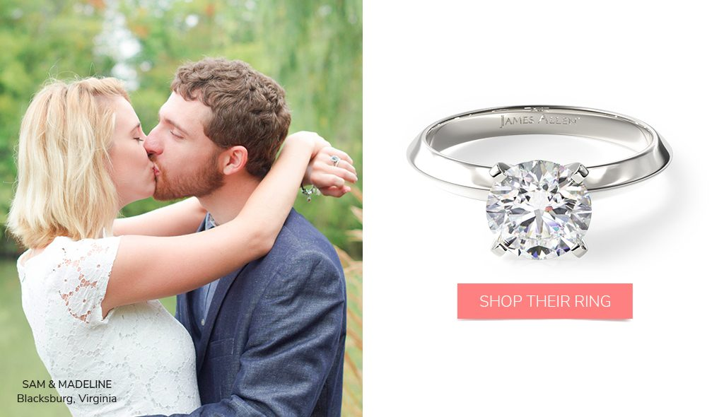 summer proposal tips solitaire engagement ring