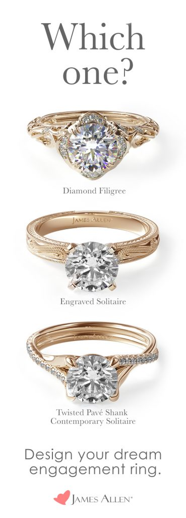 Yellow gold engagement rings on Pinterest