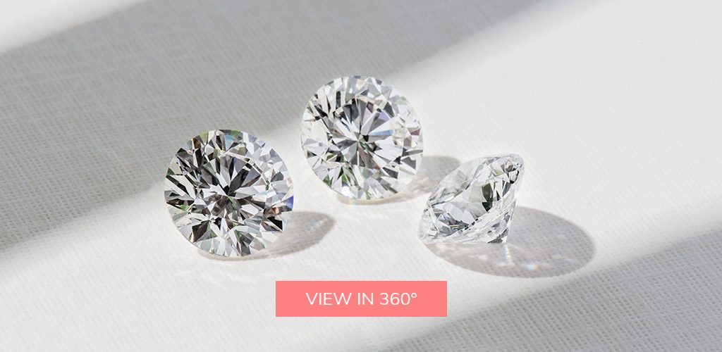 Three Round Cut Diamonds